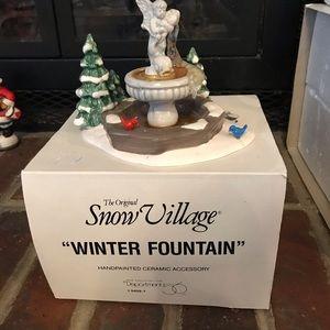 Department 56 Winter Fountain